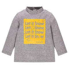 """Sous-pull en jersey fantaisie avec print Smiley """"Let it Snow"""""""