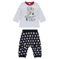Σύνολο με μακρυμάνικη μπλούζα και παντελόνι Mickey της Disney