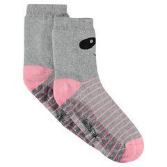 Αντιολισθητικές κάλτσες με τύπωμα πάντα