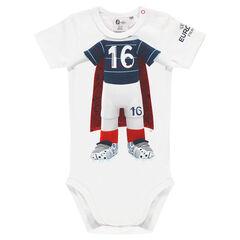 Body manches courtes EURO 2016™ avec print corps mascotte