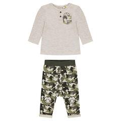 Σύνολο με μακρυμάνικη μπλούζα και μιλιτέρ παντελόνι ©Smiley