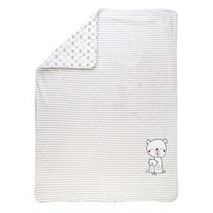 Βελουτέ και ζέρσεϊ κουβερτάκι με μοτίβο αρκουδάκια