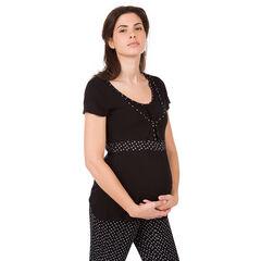 Κοντομάνικη μπλούζα εγκυμοσύνης και θηλασμού για το σπίτι