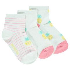 Σετ 3 ζευγάρια κάλτσες με σχέδιο ανανάδες