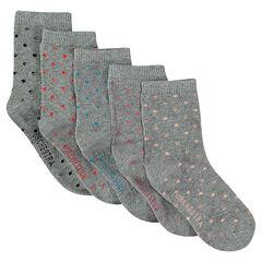 Σετ 5 ζευγάρια κάλτσες με πουά