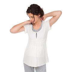 Εμπριμέ κοντομάνικη μπλούζα εγκυμοσύνης και θηλασμού