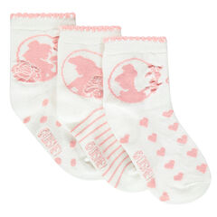Σετ 3 ζευγάρια κάλτσες με τις Πριγκίπισσες της Disney