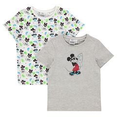 Σετ με 2 κοντομάνικες μπλούζες Disney με σχέδιο τον Μίκυ