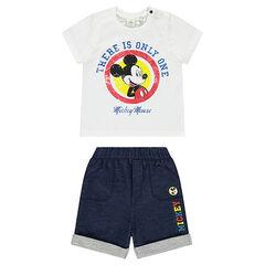 Σύνολο Disney με βερμούδα και μπλούζα με τον Μίκυ