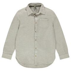 Παιδικά - Βαμβακερό πουκάμισο με τσέπη