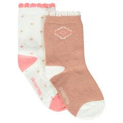 Σετ με 2 ζευγάρια κάλτσες με διακοσμητικά σχέδια