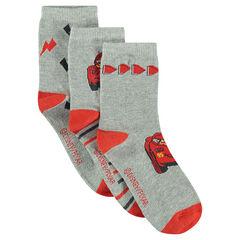 Σετ με 3 ζευγάρια ασορτί κάλτσες με σχέδιο Cars της Disney/Pixar®