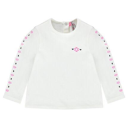Μακρυμάνικη μπλούζα με έθνικ μοτίβα