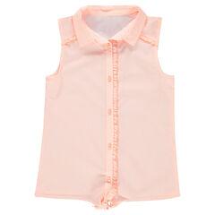 Παιδικά - Κοντομάνικο καρό πουκάμισο με δέσιμο