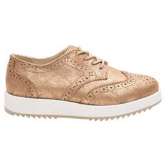 Χρυσαφί δετά παπούτσια με ενιαία σόλα από 24 έως 27