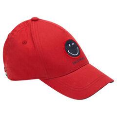Μονόχρωμο υφασμάτινο καπέλο με σήμα ©Smiley