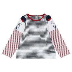 Μακρυμάνικη μπλούζα με ρίγες σε όλη την επιφάνεια και αυτάκια Minnie της ©Disney