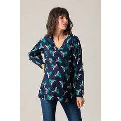 Μακρυμάνικη μπλούζα εγκυμοσύνης με λαιμόκοψη V