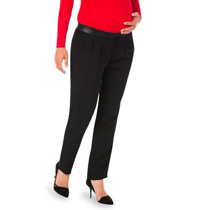 Pantalon de grossesse avec taille élastiquée irisée