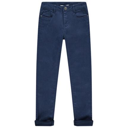 Παιδικά - Υφασμάτινο παντελόνι σε slim γραμμή με τσέπες