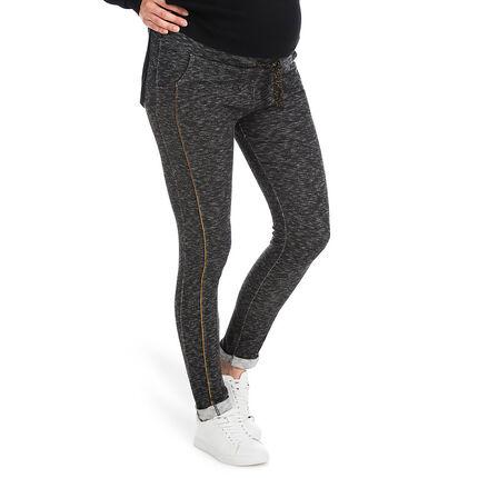 Pantalon de grossesse en maille twistée avec détails dorés
