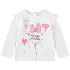Μακρυμάνικη μπλούζα με στάμπα τη Minnie σε σχήμα μπαλονιού και παγιέτες