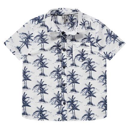 Κοντομάνικο πουκάμισο με μοτίβο φοίνικες