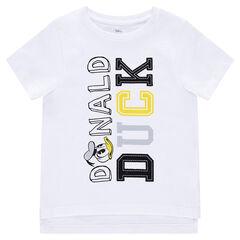 Κοντομάνικη μπλούζα από ζέρσεϊ της Disney με κείμενο και τυπωμένο τον Donald