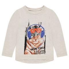Μακρυμάνικη μπλούζα με τυπωμένη τίγρη
