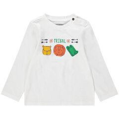 Μακρυμάνικη μπλούζα με τύπωμα ζώα της ζούγκλας