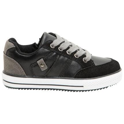 Αθλητικά παπούτσια από δύο υλικά με φερμουάρ και κορδόνια, από 24 έως 29