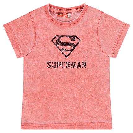 Κοντομάνικη μπλούζα με τύπωμα λογότυπο Superman της DC Comics