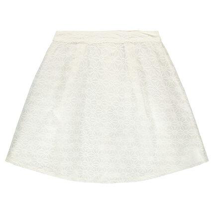 Παιδικά - Φούστα κρεπ και δαντέλα με γεωμετρικά σχέδια