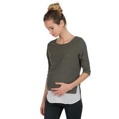 Πλεκτό εγκυμοσύνης σε διακοσμητική πλέξη 2 σε 1