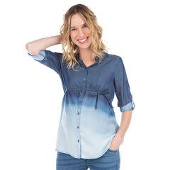 Μακρυμάνικο πουκάμισο από tencel με ξεβαμμένη όψη