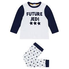 Ζέρσεϊ πιτζάμα Star Wars™ με τυπωμένο μήνυμα στην μπλούζα και εμπριμέ παντελόνι με μοτίβο Νταρθ Βέιντερ