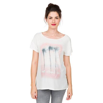 Κοντομάνικη μπλούζα εγκυμοσύνης με μοτίβο φοίνικες