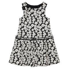 Αμάνικο φόρεμα με ζακάρ λουλούδια