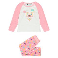 Βελουτέ σύνολο πιτζάμας με παντελόνι και τύπωμα τη Μικρή Γιατρό της Disney