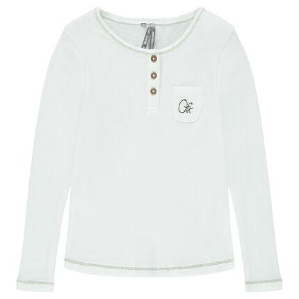 Μακρυμάνικη μπλούζα σε ριμπ ύφανση