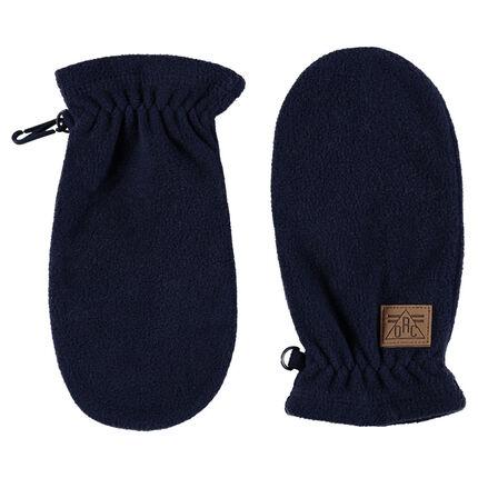 Ενιαία μονόχρωμα γάντια φλις