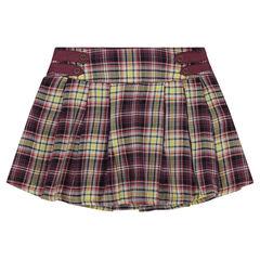 Καρό πλισέ φούστα