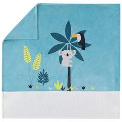 Βελουτέ κουβέρτα με μοτίβο τα ζώα της ζούγκλας