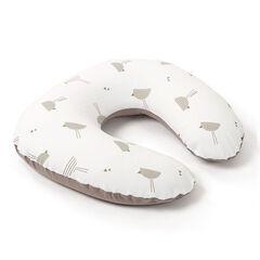 Μικρό Softy μαξιλάρι θηλασμού - Πουλιά -χρώμα taupe  , Doomoo