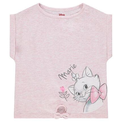 Κοντομάνικη ζέρσεϊ μπλούζα σε φαρδιά γραμμή με στάμπα την Μαρί της ©Disney