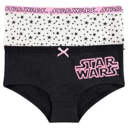Παιδικά - Σετ 2 σορτσάκια με τύπωμα Star Wars™ και μοτίβο αστέρια