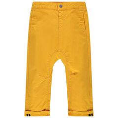 Μονόχρωμο παντελόνι από ύφασμα τουίλ