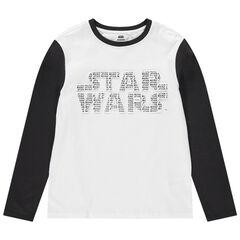 Παιδικά - Μακρυμάνικη δίχρωμη μπλούζα με στάμπα Star Wars