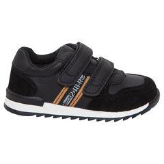 Αθλητικά παπούτσια με αυτοκόλλητο velcro και λωρίδες σε χρώμα που κάνει αντίθεση