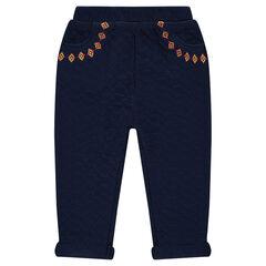 Παντελόνι από φανέλα με κεντήματα